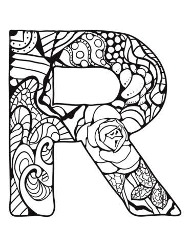 Zentangle Letters Google Search Abc Coloring Pages Alphabet Coloring Pages Alphabet Coloring