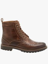 Clarks Montacute Lord Wing Tip Brogue Leather Boots