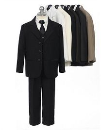 Setting - Watchdogfashion KidsTuxedo  Your Price: $60/ea Wholesale Clothing Pack (8pcs) Availability: In Stock Fabric Type :100%Polyester Suit,80%Polyester 20%Cotton Shirt Sizes[Ratio] :8-10-12-14-16-18-20 (1pc Per size mix Color) [ 1/8,1/10,1/12,1/14,1/16,1/18,1/20 ]Wholesale Clothing, Wholesale Apparel - 5 pc. Suit Kids Clothes Set Includes: Tie, Vest,Shirt,Pants,Jacket Colors:Black, White, Charcoal,
