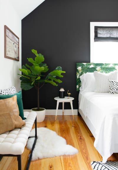 Modern Glam Design Newport Home Tour Black Walls Bedroom Bedroom Design Bedroom Interior