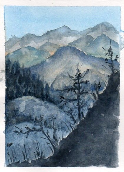 Paisaje Montanas Paisajes Montanas Dibujo Tutoriales De Pintura En Acuarela
