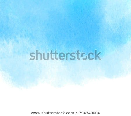 Blue Color Aquarelle Wet Hand Drawn Vector Grunge Background For
