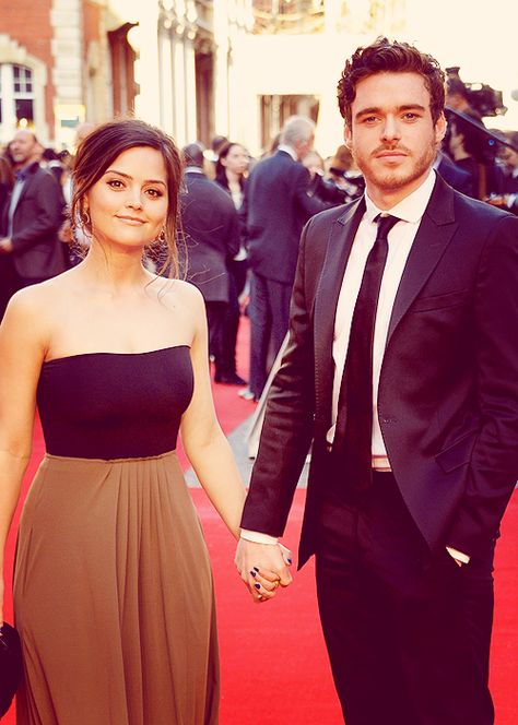 jenna-louise coleman & richard madden. The fact that they're dating is infuriating!! She needs to learn to share!