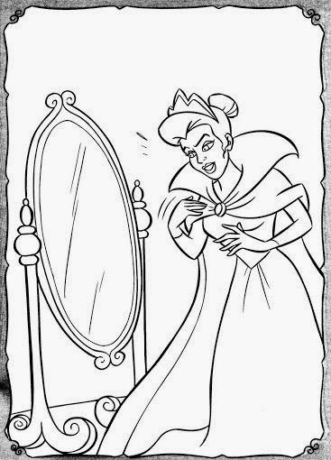 Blancanieves Y Los Siete Enanitos Dibujos Para Colorear