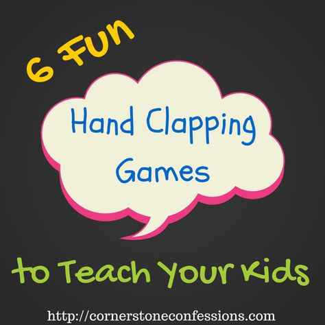 6 Fun Hand-Clapping Games to Teach Your Kids - Cornerstone Confessions Preschool Music, Teaching Music, Preschool Classroom, Learning Games, Kids Learning, Learning Guitar, Games To Play With Kids, Hand Games For Kids, Drama Games For Kids