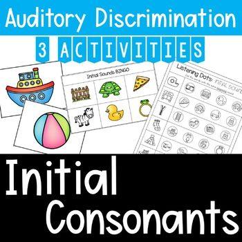 Auditory Training Initial Consonants Matching Phonemic Awareness Activities Phonemic Awareness Skills Phonemic Awareness