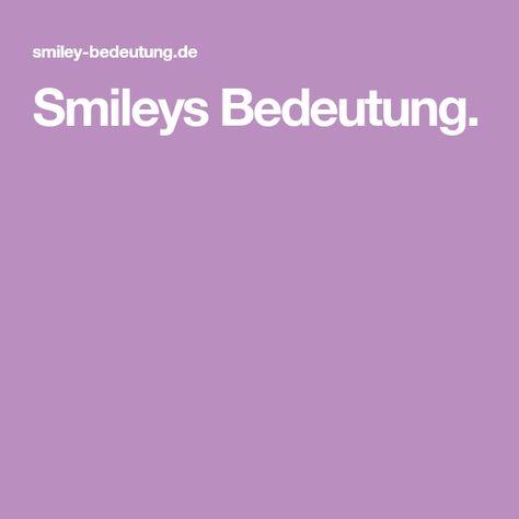 9 Smiley Bedeutung