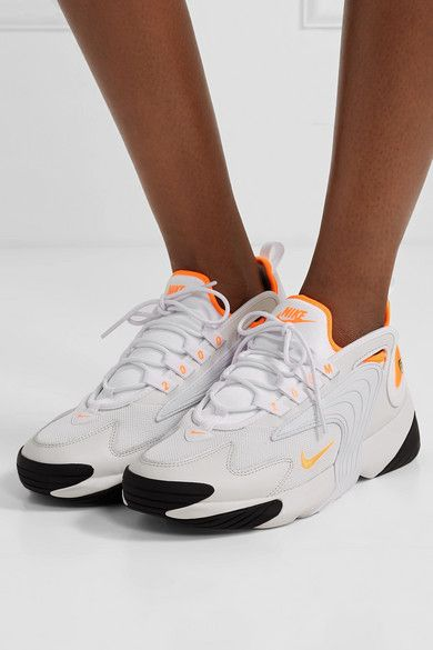 Nike - Zoom 2K neon-trimmed leather and mesh sneakers in ...