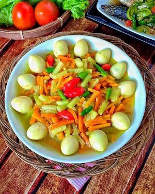 Acar Kuning Telur Puyuh Resep Masakan Resep Makanan Sehat Masakan