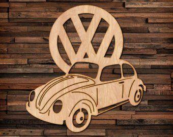 Volkswagen Bus Bug Wood Hanging Wall Art Etsy Hanging Wall Art Volkswagen Vw Bug