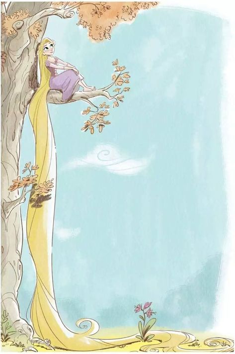 Rapunzel looks like she belongs in the 100 Acre Woods.