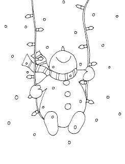 Snowman Christmas Lights Swing (Free Dearie Dolls Digi Stamps) - Not only solemnly, also wise will soon be there for Christmas. Because also the light chain is netwo Christmas Doodles, Christmas Drawing, Christmas Coloring Pages, Christmas Colors, Christmas Snowman, Christmas Crafts, Christmas Mantles, White Christmas, Theme Noel