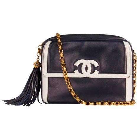 1stdibs | Chanel Blue Camera Bag 1990's