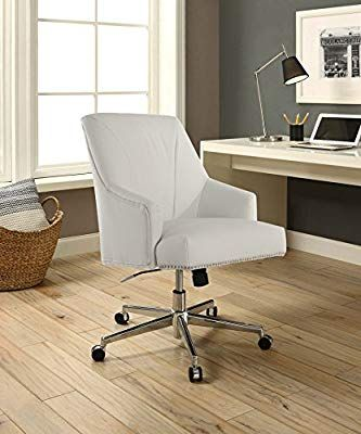 Amazon Com Serta Style Leighton Home Office Chair Clean White Bonded Leather Kitchen Dining Home Office Chairs Office Chair Home