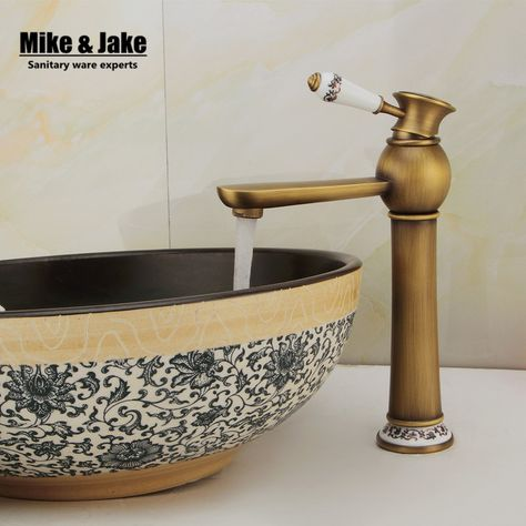 Free Shipping Antique Brass Bathroom Faucet Antique Bronze Finish