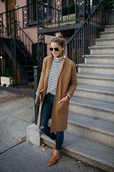 Invest In Coat Sweaters - Cool Outfit Ideas for Moms - Photos