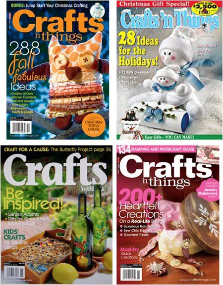 Win a 4 year subscription to crafts-n-things magazine!  Giveaway ends December 11th!