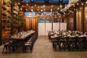 Brooklyn Winery Wedding.Beautiful Wedding Dinner Setting At Brooklyn Winery
