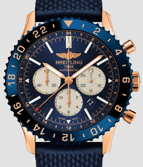 Breitling Chronoliner Watch In Red Gold Gold Watches for men Watch Releases