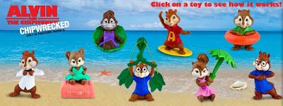 A Day In A Zoider S World 2011 Alvin And The Chipmunks Happy Meal Toys Happy Meal