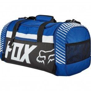 Fox Racing 180 Duffle Race Blue Motocross Off Road Dirt Bike Gear Bags Motocross Gear Bag Gear Bag Fox Racing