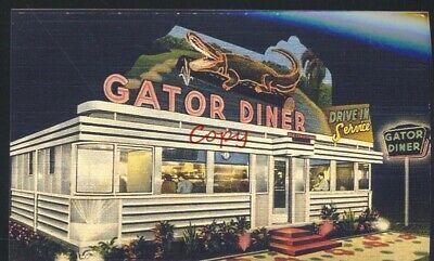 Gator Diner Restaurant Advertising Postcard Copy Ebay Vintage Diner Diner Diner Restaurant