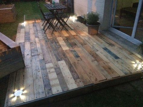 création du0027une terrasse en palettes palettes,Terrasse en bois - cout d une terrasse en bois