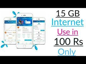 Prove How Use 15 Gb Internet In Just 100 Rs Telenor Internet Package Youtube Internet Packages Internet E Mobile Data