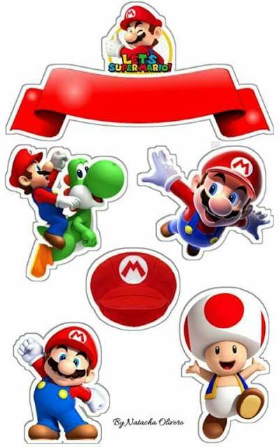 Super Mario Bros Free Printable Cake Toppers Super Mario Bros Party Super Mario Bros Birthday Party Mario Bros Party