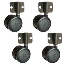 2 3 8 Side Mount Hardwood Safe Softech Casters Set Of 4 In 2020 Casters Furniture Hardware Mounting