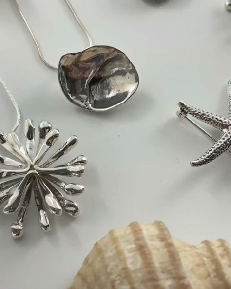 Here's a sneak peek of our new jewelry collection launching on Thursday! Artist Jeanette Ware makes this beautiful nature-inspired, sterling silver jewelry. Which one would you pick? . . . #jewelry #jewellery #maine #sterlingsilver #handmade #artisan #handmadejewelry #accessories #necklaceoftheday #earrings #necklace #shellnecklace #seastar #starfish #acornecklace #naturejewelry #frognecklace #fern #seaurchin #seaurchinnecklace #mainegifts #beanoutsider #nature #newengland