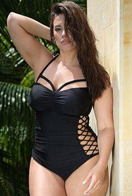 Swimsuits For All Womens Plus Size Loose Swim Short with Built-in Brief Swimsuit Bottoms