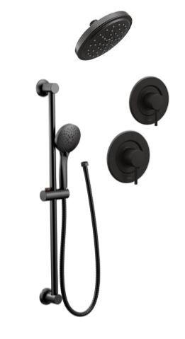 Align Matte Black Handheld Rainhead On Ceiling Shower Heads