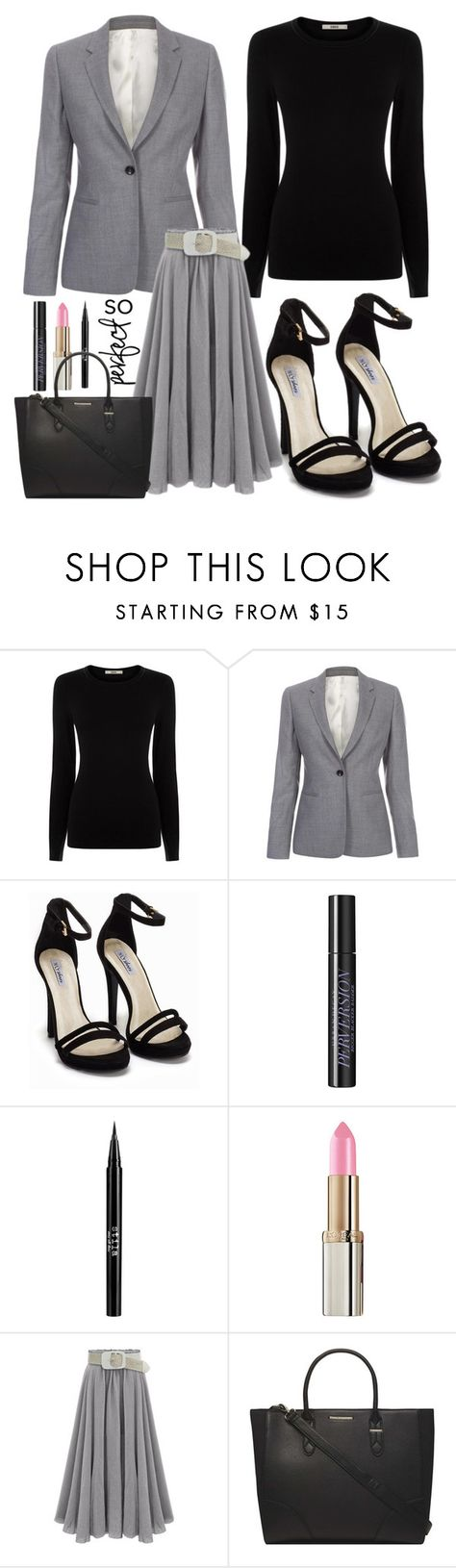 """The Working Lady"" by spellrox ❤ liked on Polyvore featuring Oasis, Paul Smith, Nly Shoes, Urban Decay, Stila, L'Oréal Paris, Dorothy Perkins, women's clothing, women's fashion and women"