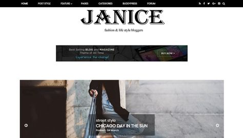Janice - Responsive Blogger Template