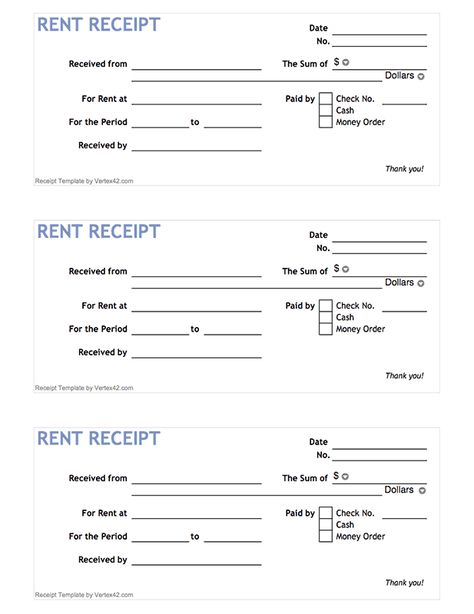 Basic rent receipt book style Rent Receipt Template Pinterest - cash slip template