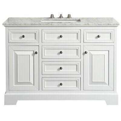 Ivy Bronx Swifton 42 Single Bathroom Vanity Base Finish White