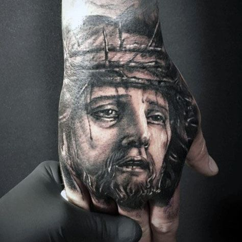 6e793f5a9 20 Jesus Hand Tattoo Designs For Men - Christ Ink Ideas | Tattoo ...