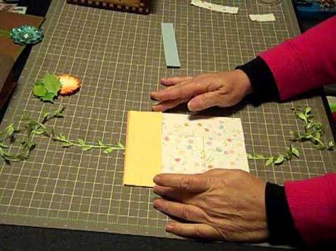 Mini Album 101 Tutorial on album using 6 x 9 envelopes
