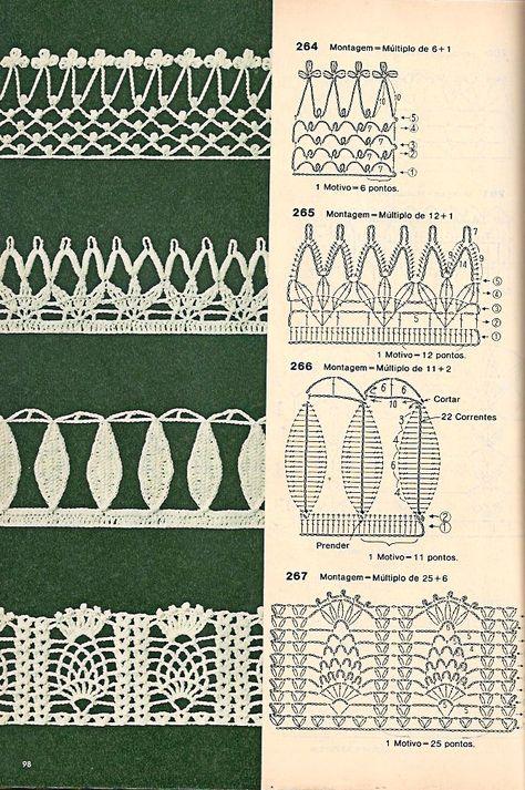 bicos-de-croche-artesanato17 | Oya | Pinterest | Ganchillo, Croché y ...