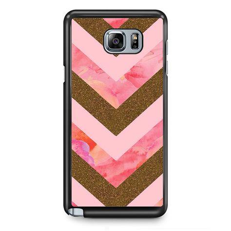 Pink Gold Glitter Chevron TATUM-8685 Samsung Phonecase Cover Samsung Galaxy Note 2 Note 3 Note 4 Note 5 Note Edge