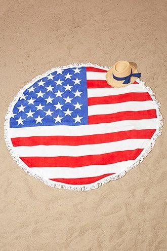 South Beach Flag Beach Towel 4th Of July American Flag
