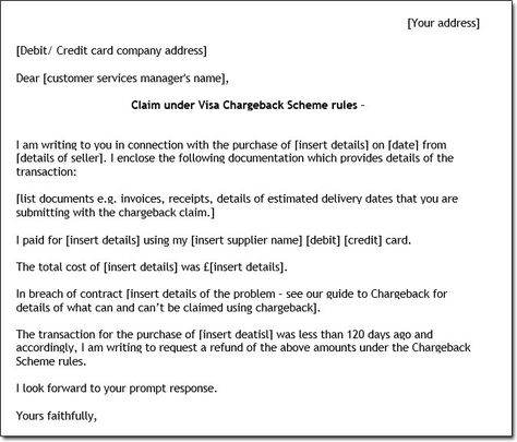 Sample Chargeback Letter chargeback letter Pinterest Easy - breach of employment contract