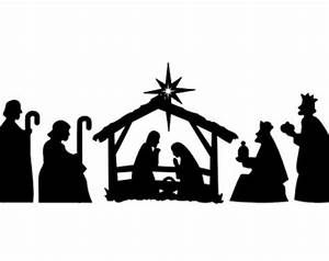 image regarding Free Printable Silhouette of Nativity Scene identified as Seem Achievement for \u201cFree Printable Nativity Silhouette