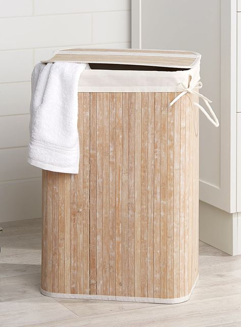 Rectangular Bamboo Laundry Basket Wooden Laundry Basket Rustic Baskets Laundry Basket