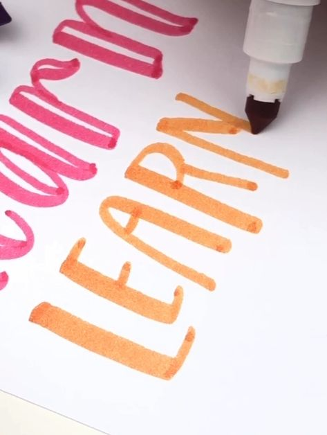 Learn the basics of hand lettering and modern calligraphy so you can start doing creative lettering styles. You don't even need fancy pens, I'm using Crayola supertips here! Click to see my class and take Hand Lettering for Beginners online course so you can know all all the basics and get some lettering practice sheets! | Ensign Insights #handlettering #moderncalligraphy #brushlettering #calligraphy #lettering #typography