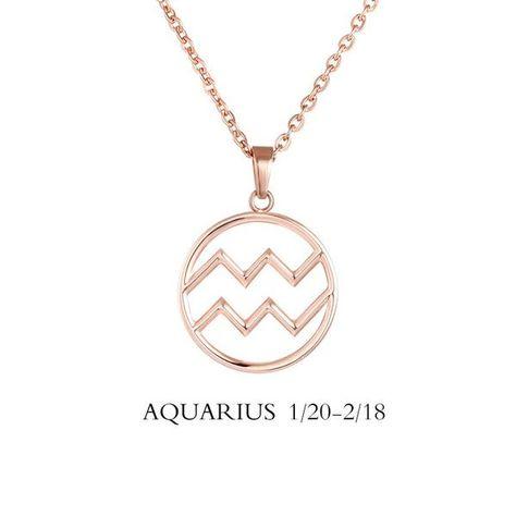 Aquarius Necklace - Aquarius Zodiac Sign/ Constellation Necklace Gold, – Zodiac Trends