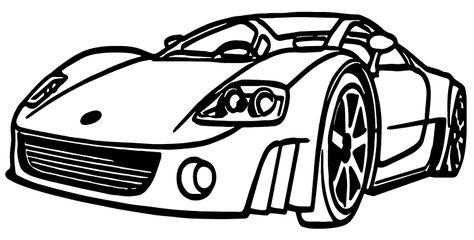 Araba Boyama Sayfası Araba Boyama Sayfaları Car Coloring Pages