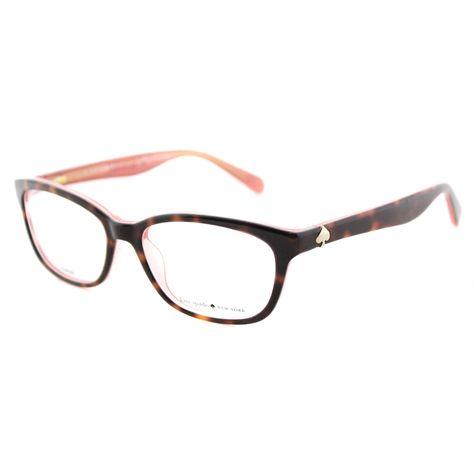 e6f3f21cbca6 Kate Spade Women's KS Brylie QTQ Havana Pink 52-millimeter Rectangle  Eyeglasses