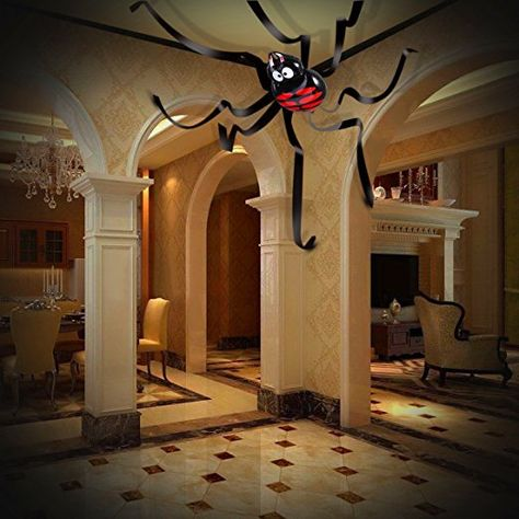 Amazon.com: Halloween House Decorations, 20 Feet Giant Spider Ceiling Hanging Decorations for Party or Haunted House: Home & Kitchen
